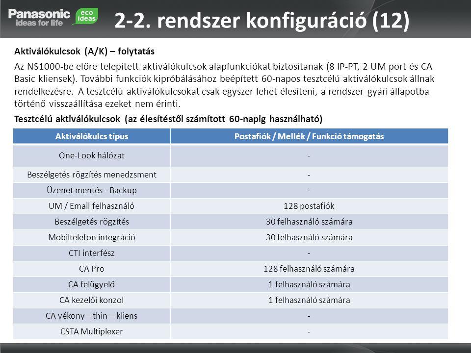 2-2. rendszer konfiguráció (12)