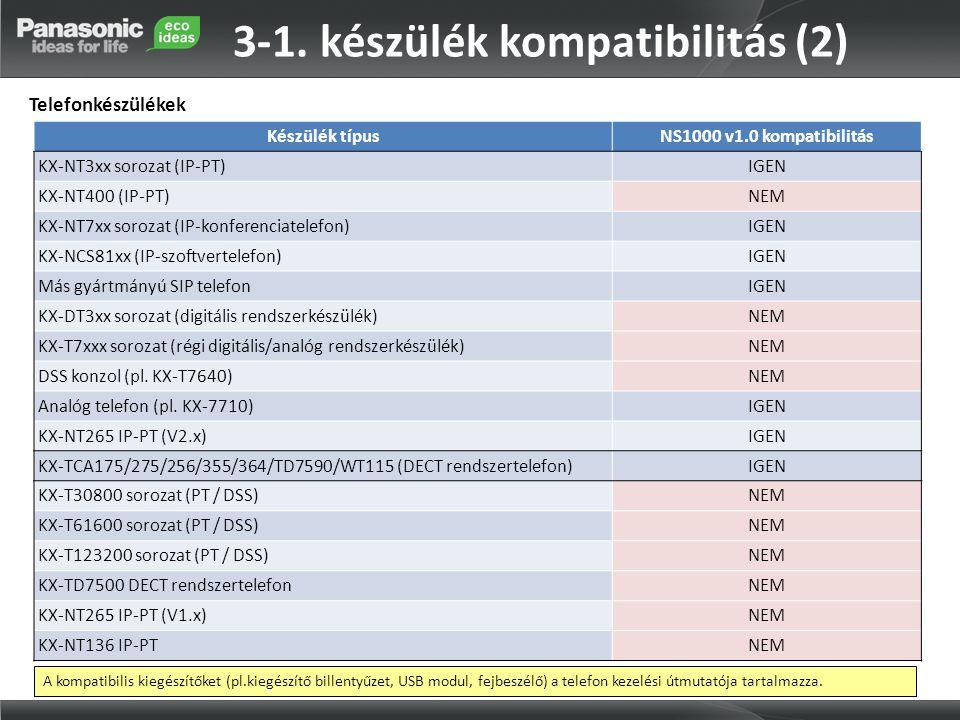 3-1. készülék kompatibilitás (2)