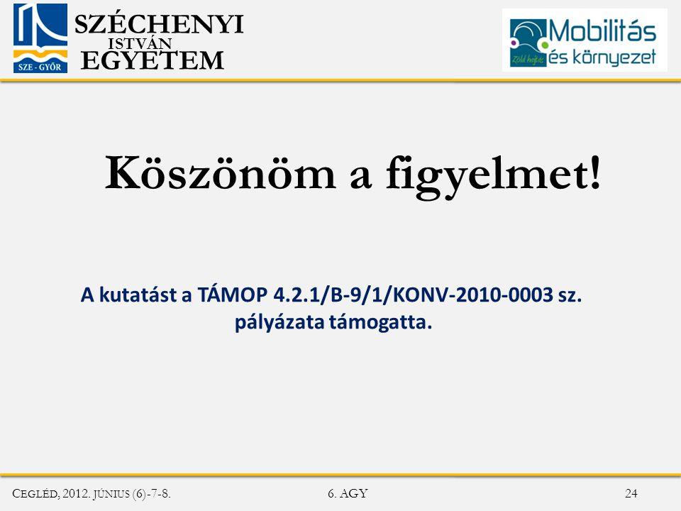A kutatást a TÁMOP 4.2.1/B-9/1/KONV-2010-0003 sz.