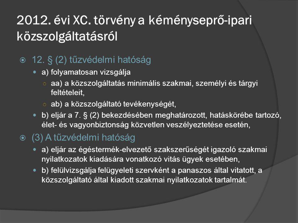 2012. évi XC. törvény a kéményseprő-ipari közszolgáltatásról