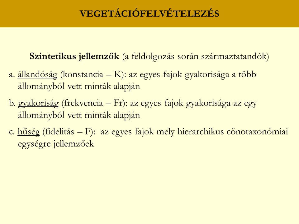 VEGETÁCIÓFELVÉTELEZÉS