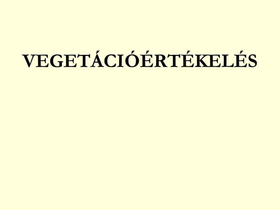 VEGETÁCIÓÉRTÉKELÉS