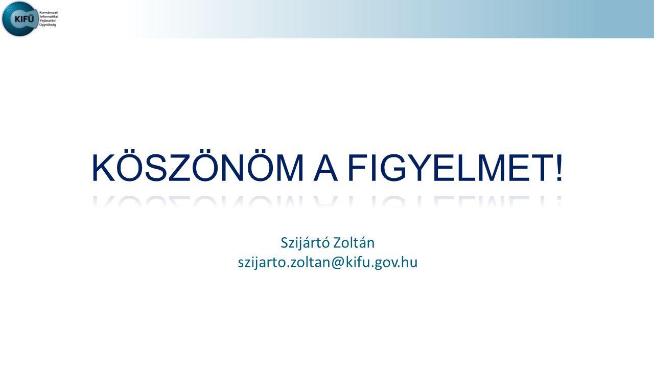 KÖSZÖNÖM A FIGYELMET! Szijártó Zoltán szijarto.zoltan@kifu.gov.hu