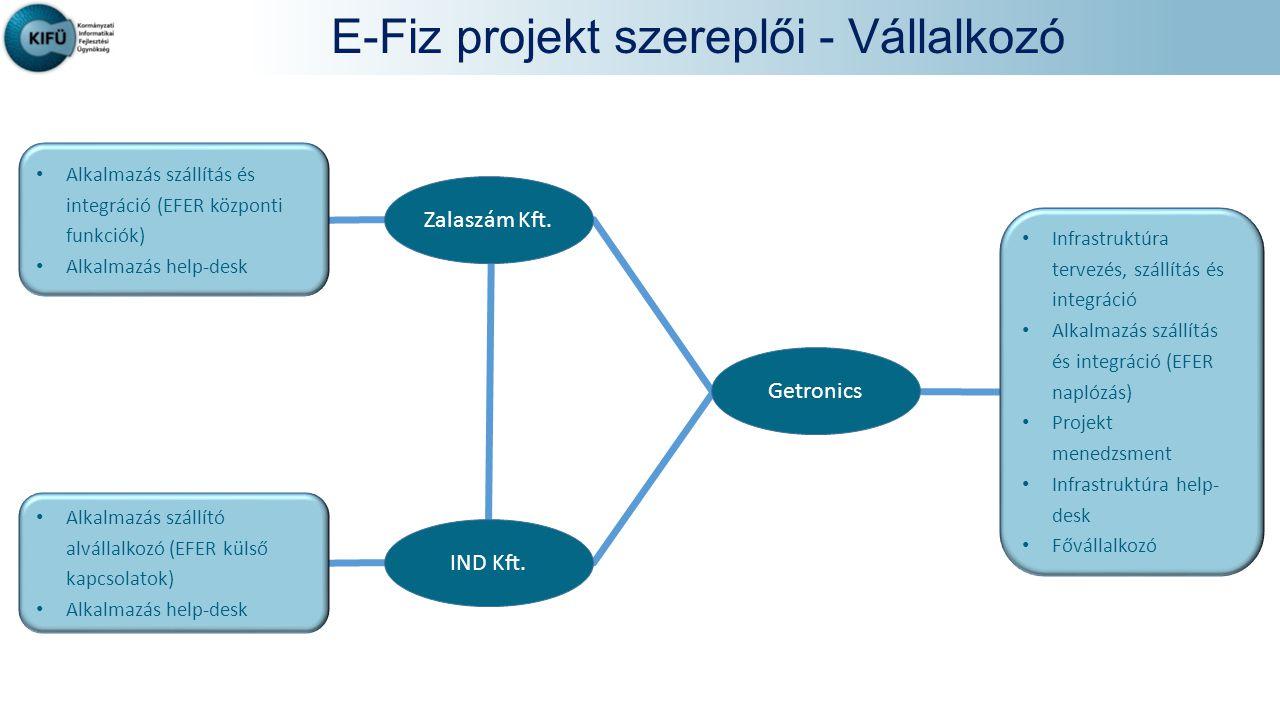 E-Fiz projekt szereplői - Vállalkozó
