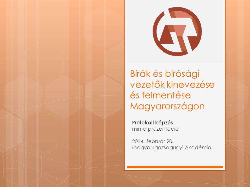 Bírák és bírósági vezetők kinevezése és felmentése Magyarországon