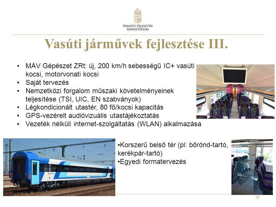 Vasúti járművek fejlesztése III.