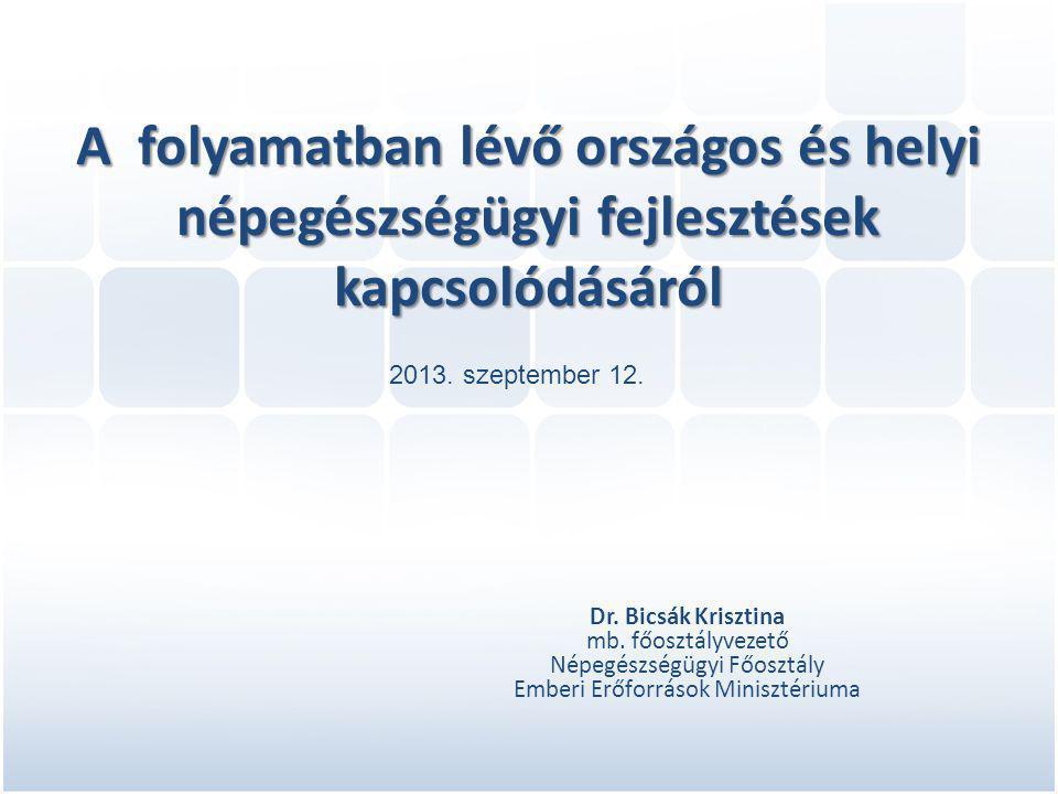 A folyamatban lévő országos és helyi népegészségügyi fejlesztések kapcsolódásáról