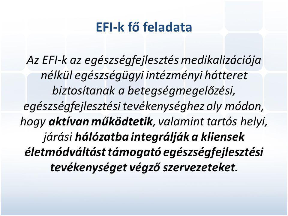 EFI-k fő feladata