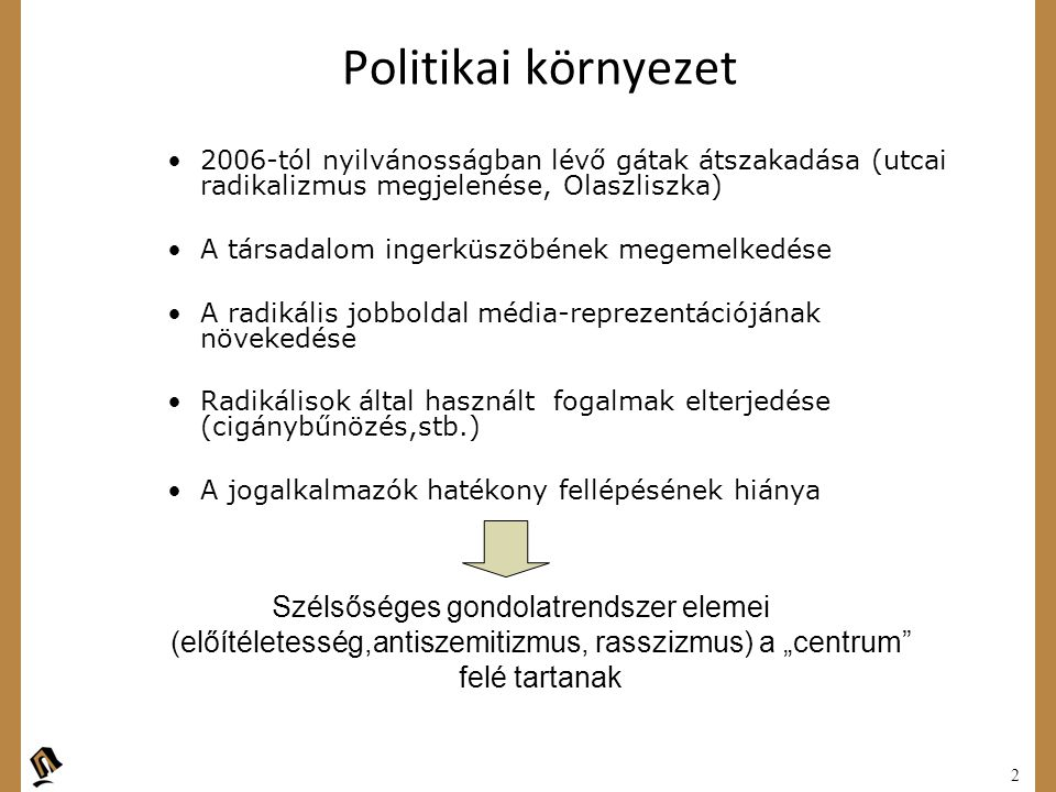 Politikai környezet 2006-tól nyilvánosságban lévő gátak átszakadása (utcai radikalizmus megjelenése, Olaszliszka)