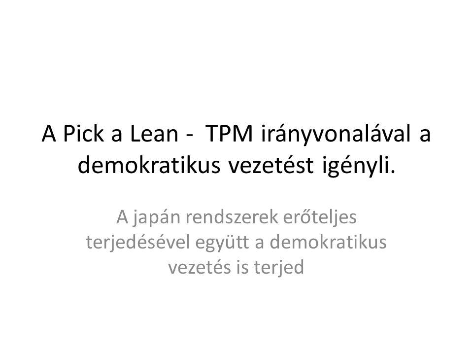 A Pick a Lean - TPM irányvonalával a demokratikus vezetést igényli.