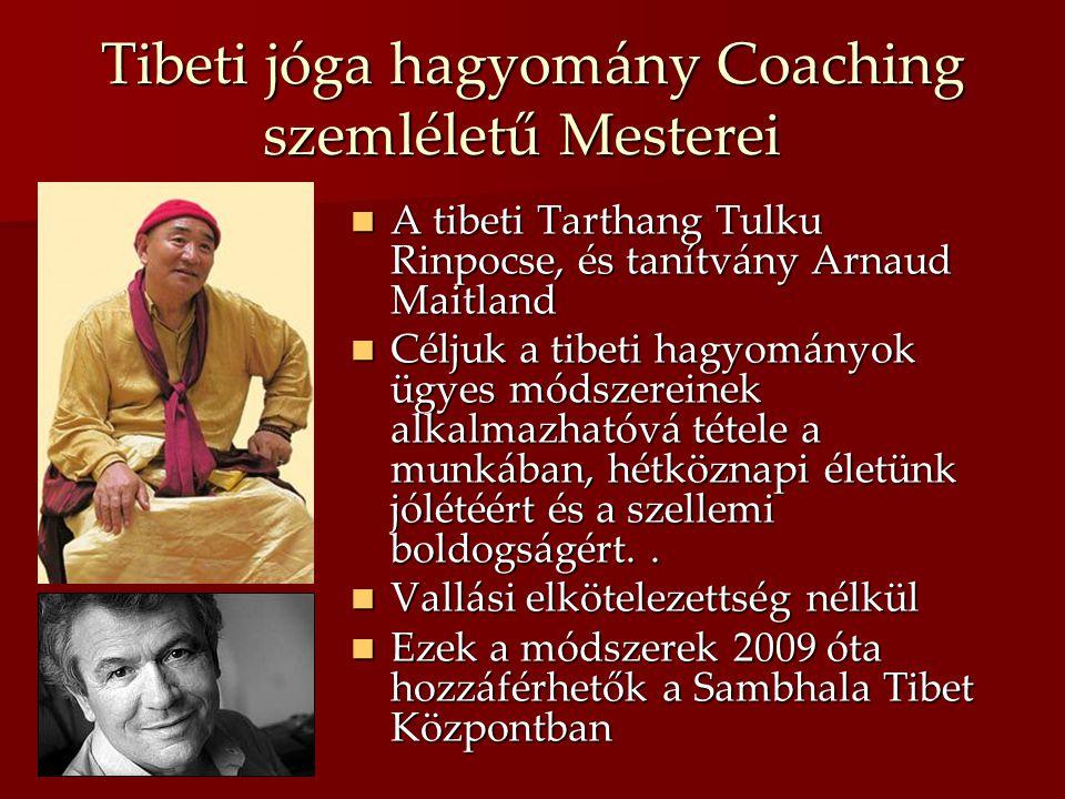 Tibeti jóga hagyomány Coaching szemléletű Mesterei