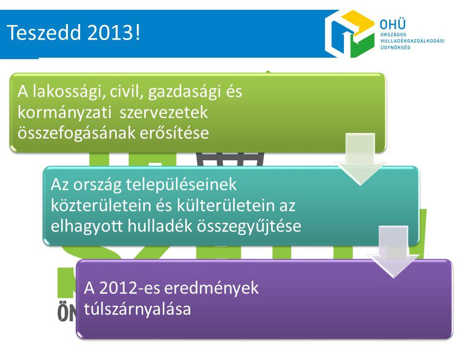 Teszedd 2013! A lakossági, civil, gazdasági és kormányzati szervezetek összefogásának erősítése.