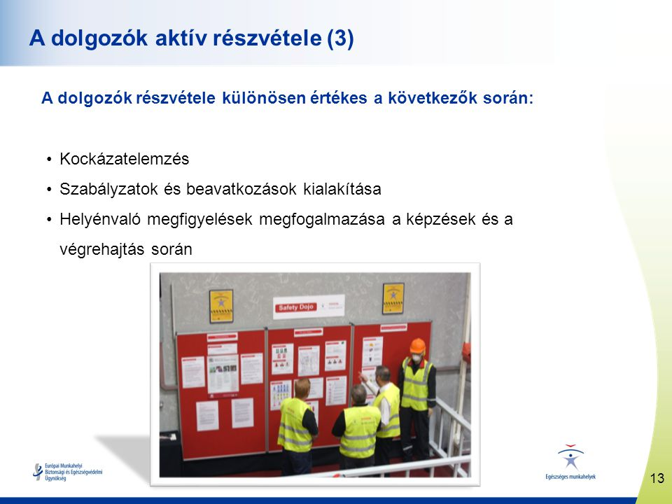 A dolgozók aktív részvétele (3)