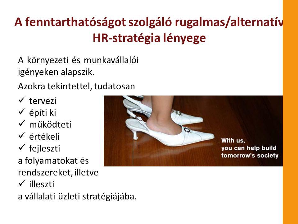 A fenntarthatóságot szolgáló rugalmas/alternatív HR-stratégia lényege