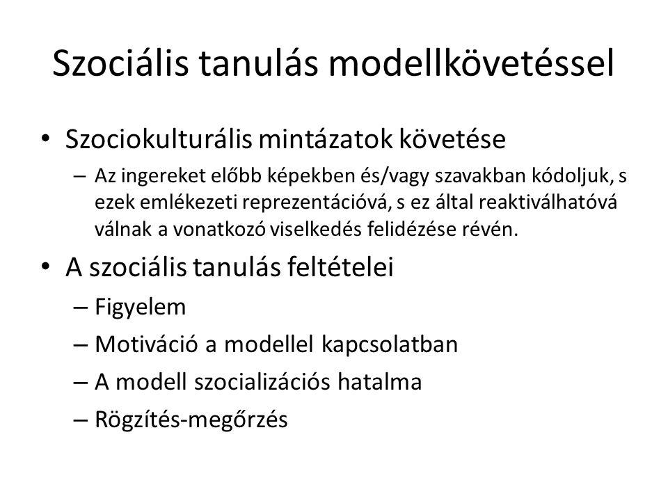 Szociális tanulás modellkövetéssel