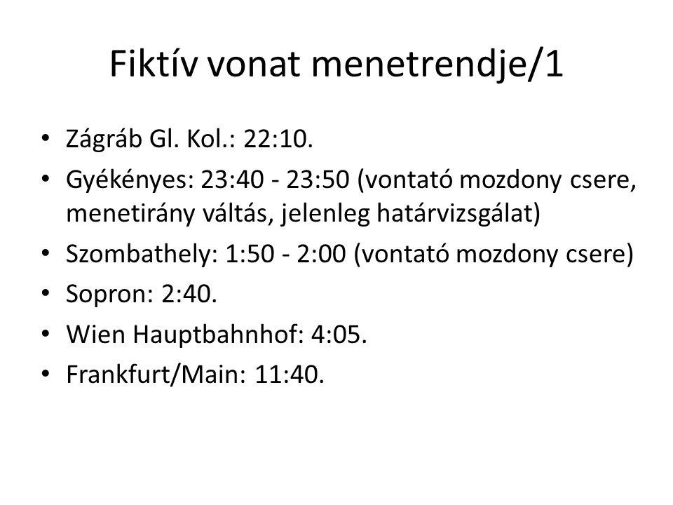 Fiktív vonat menetrendje/1