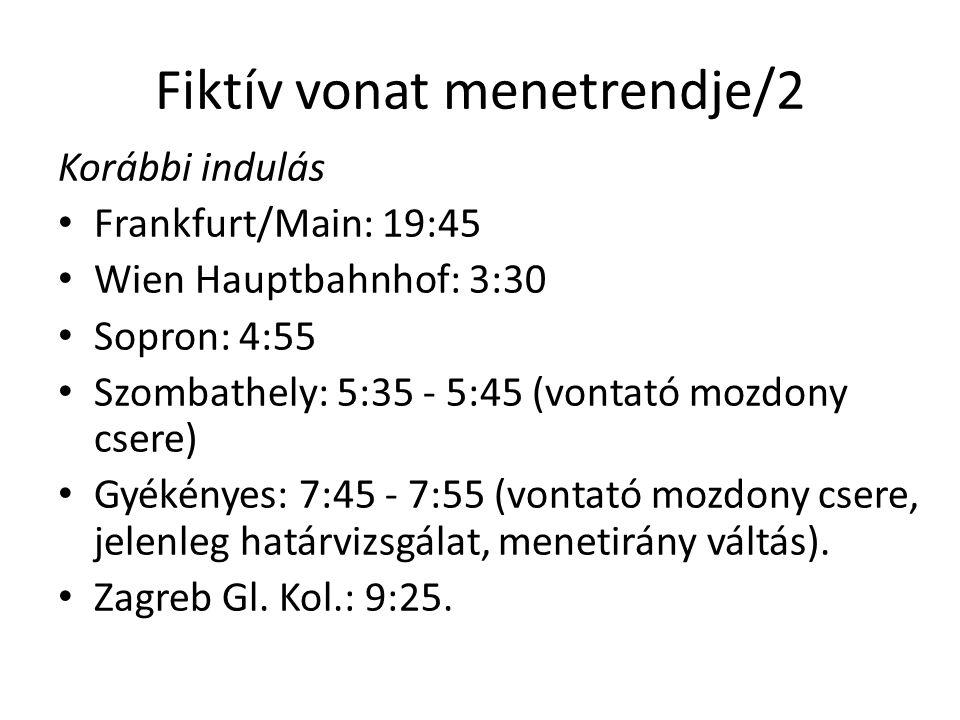 Fiktív vonat menetrendje/2