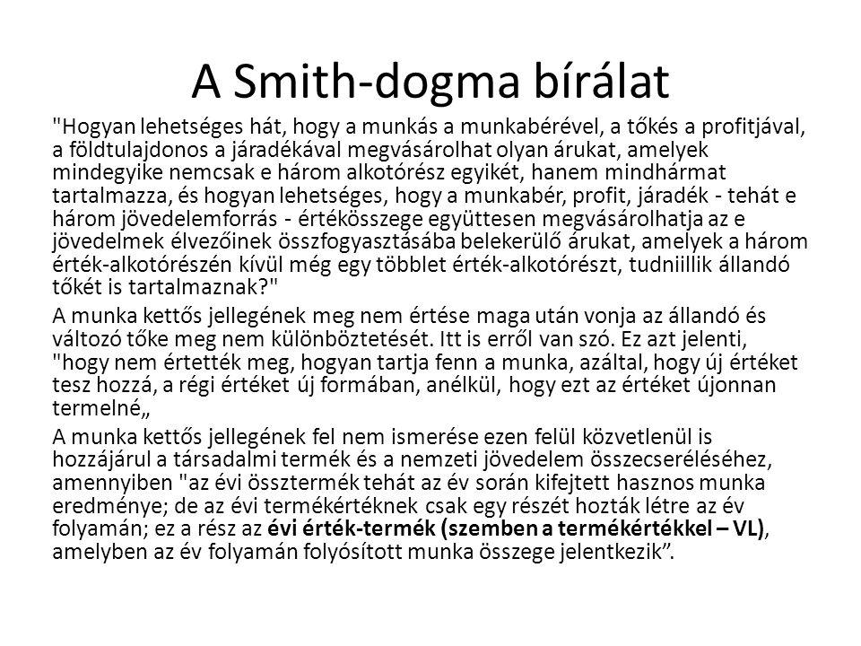 A Smith-dogma bírálat