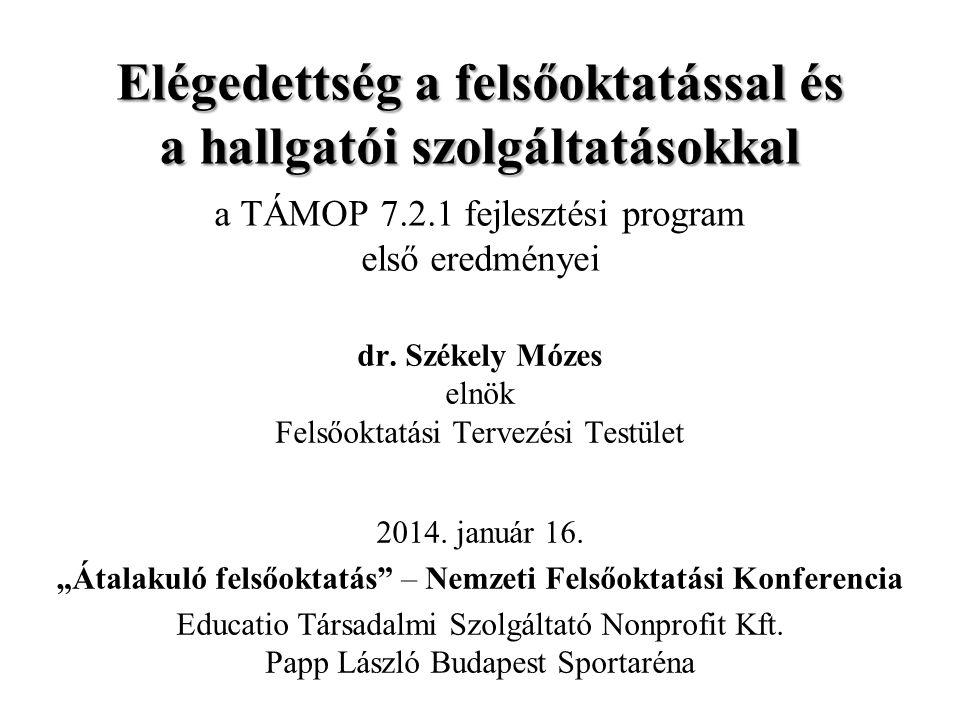 Elégedettség a felsőoktatással és a hallgatói szolgáltatásokkal a TÁMOP 7.2.1 fejlesztési program első eredményei