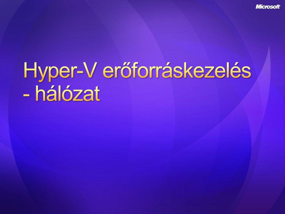 Hyper-V erőforráskezelés - hálózat