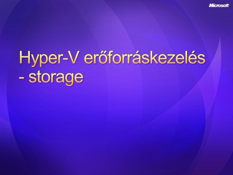 Hyper-V erőforráskezelés - storage