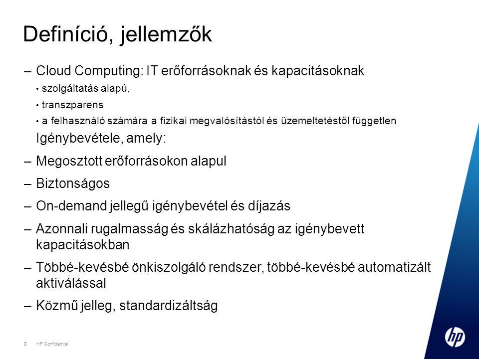 Definíció, jellemzők Cloud Computing: IT erőforrásoknak és kapacitásoknak. szolgáltatás alapú, transzparens.