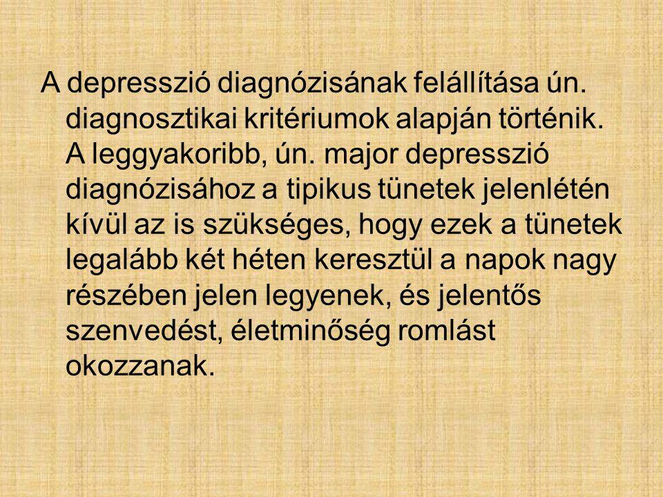 A depresszió diagnózisának felállítása ún