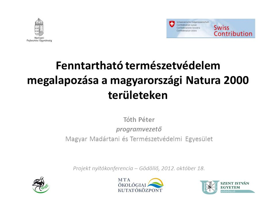 Fenntartható természetvédelem megalapozása a magyarországi Natura 2000 területeken