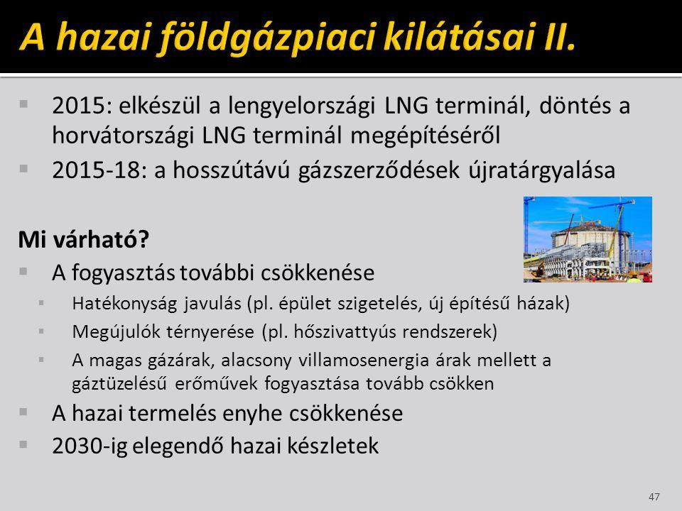 A hazai földgázpiaci kilátásai II.