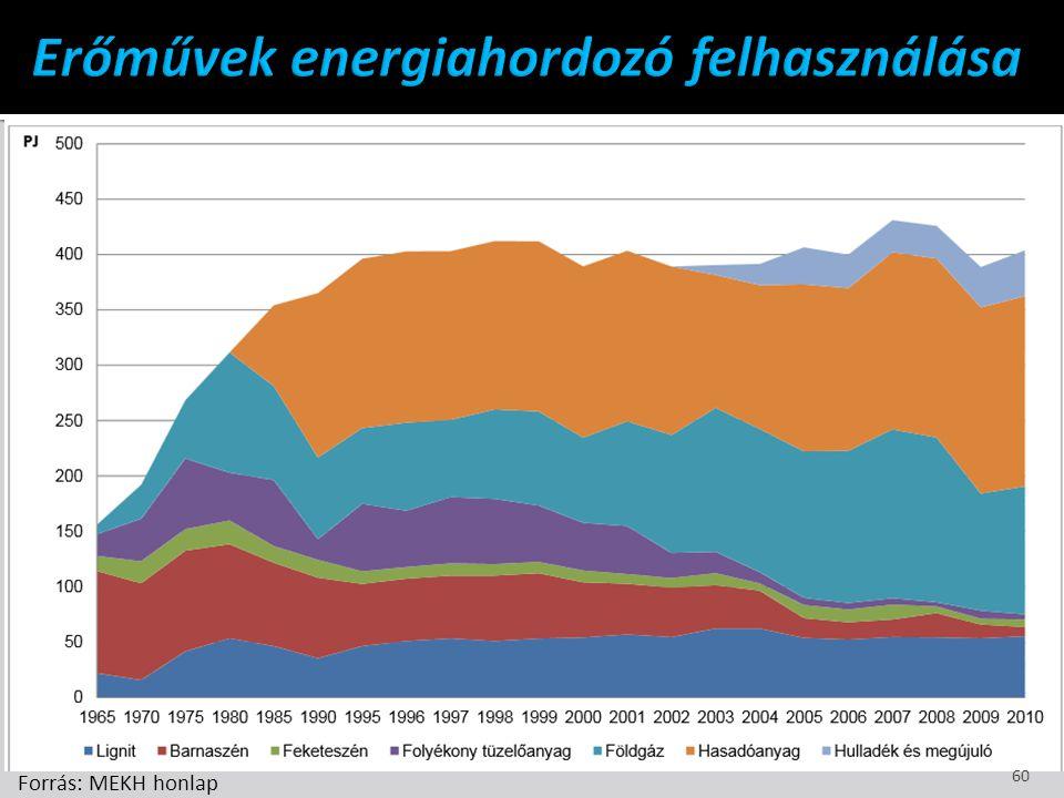 Erőművek energiahordozó felhasználása