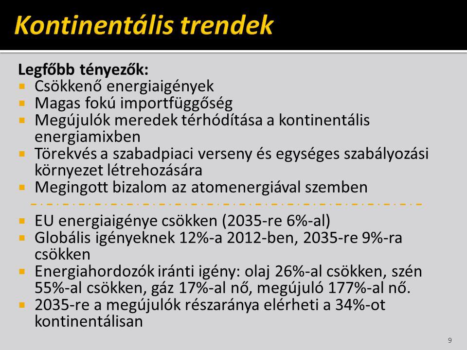 Kontinentális trendek