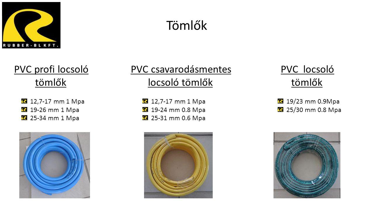 Tömlők PVC profi locsoló tömlők 12,7-17 mm 1 Mpa 19-26 mm 1 Mpa