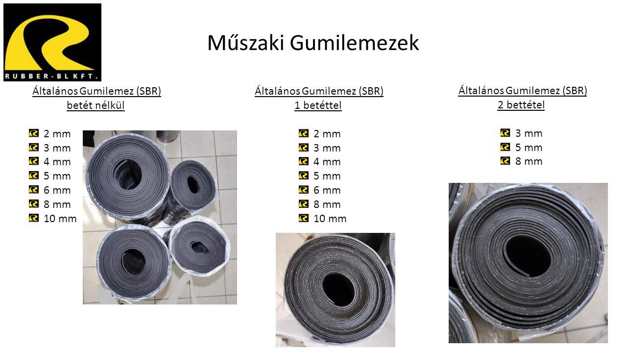 Műszaki Gumilemezek Általános Gumilemez (SBR) betét nélkül 2 mm 3 mm