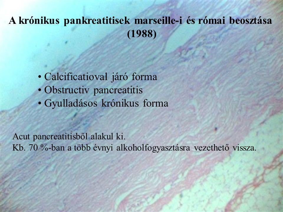 A krónikus pankreatitisek marseille-i és római beosztása