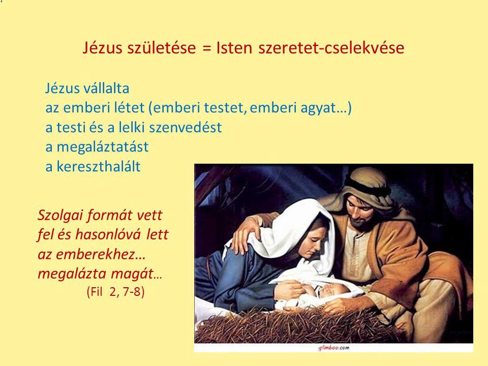 Jézus születése = Isten szeretet-cselekvése