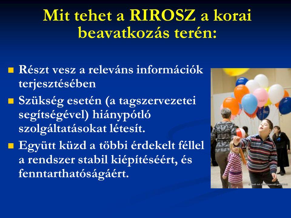 Mit tehet a RIROSZ a korai beavatkozás terén: