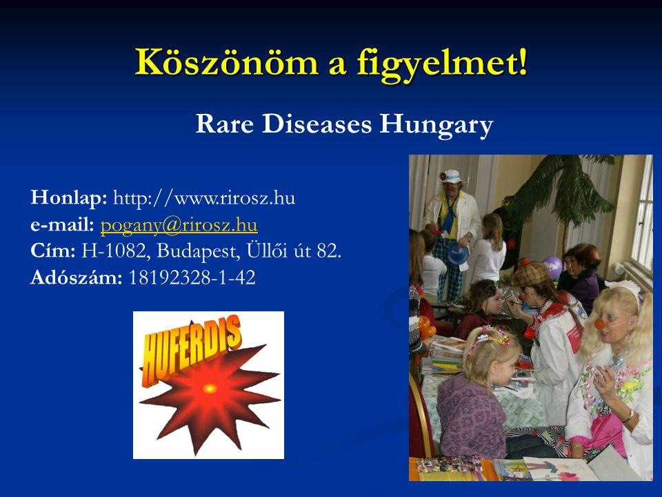 Köszönöm a figyelmet! Rare Diseases Hungary