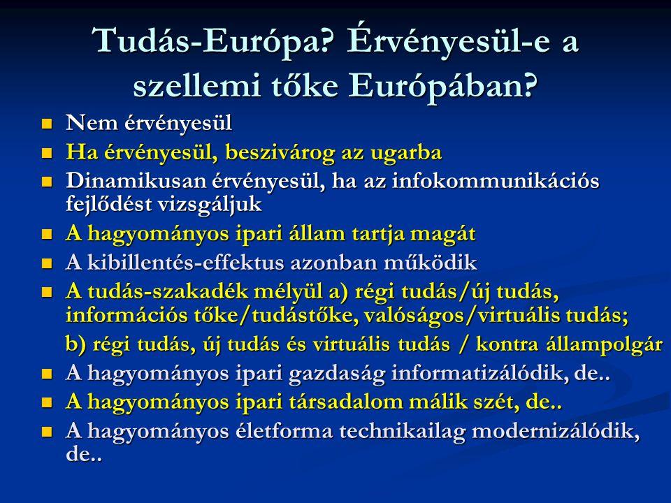 Tudás-Európa Érvényesül-e a szellemi tőke Európában