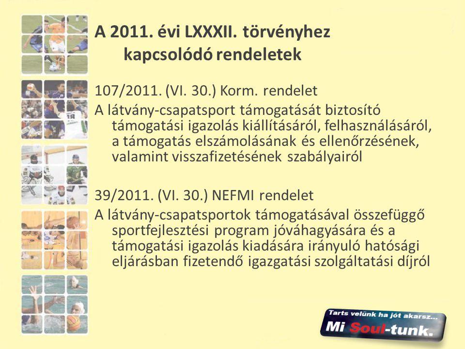 A 2011. évi LXXXII. törvényhez kapcsolódó rendeletek