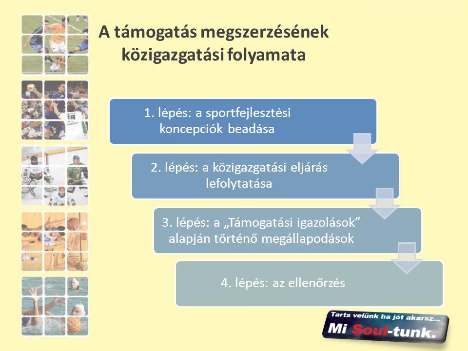 A támogatás megszerzésének közigazgatási folyamata