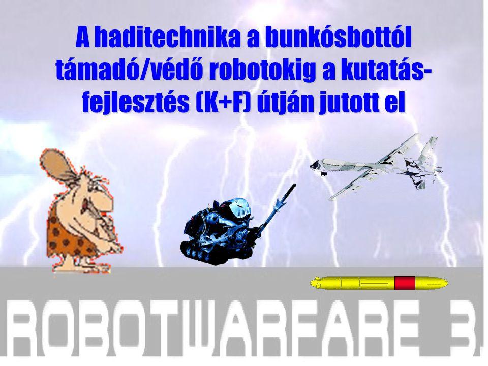 A haditechnika a bunkósbottól támadó/védő robotokig a kutatás-fejlesztés (K+F) útján jutott el