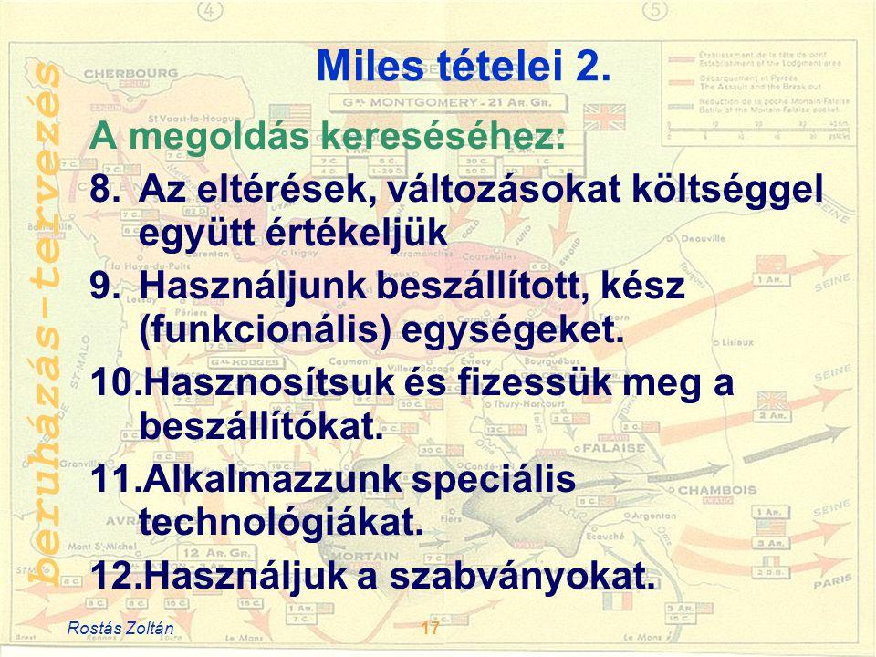 Miles tételei 2. A megoldás kereséséhez: