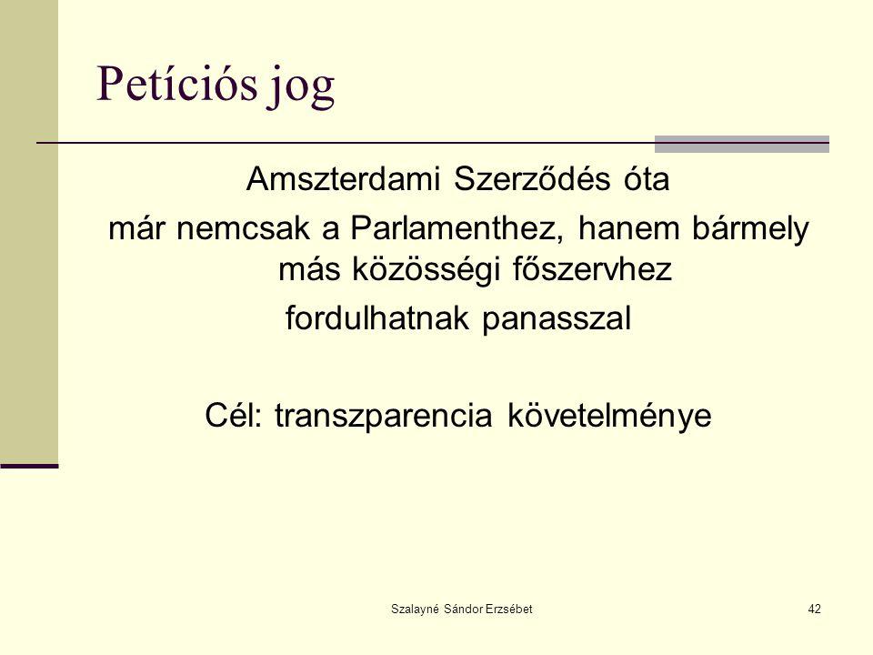 Petíciós jog Amszterdami Szerződés óta