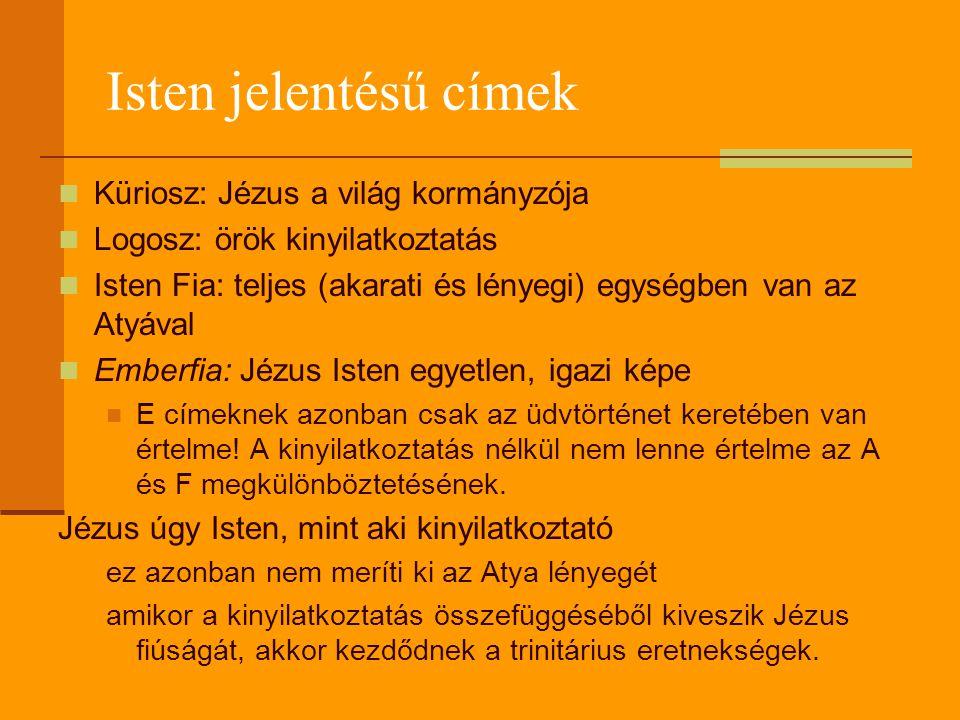 Isten jelentésű címek Küriosz: Jézus a világ kormányzója