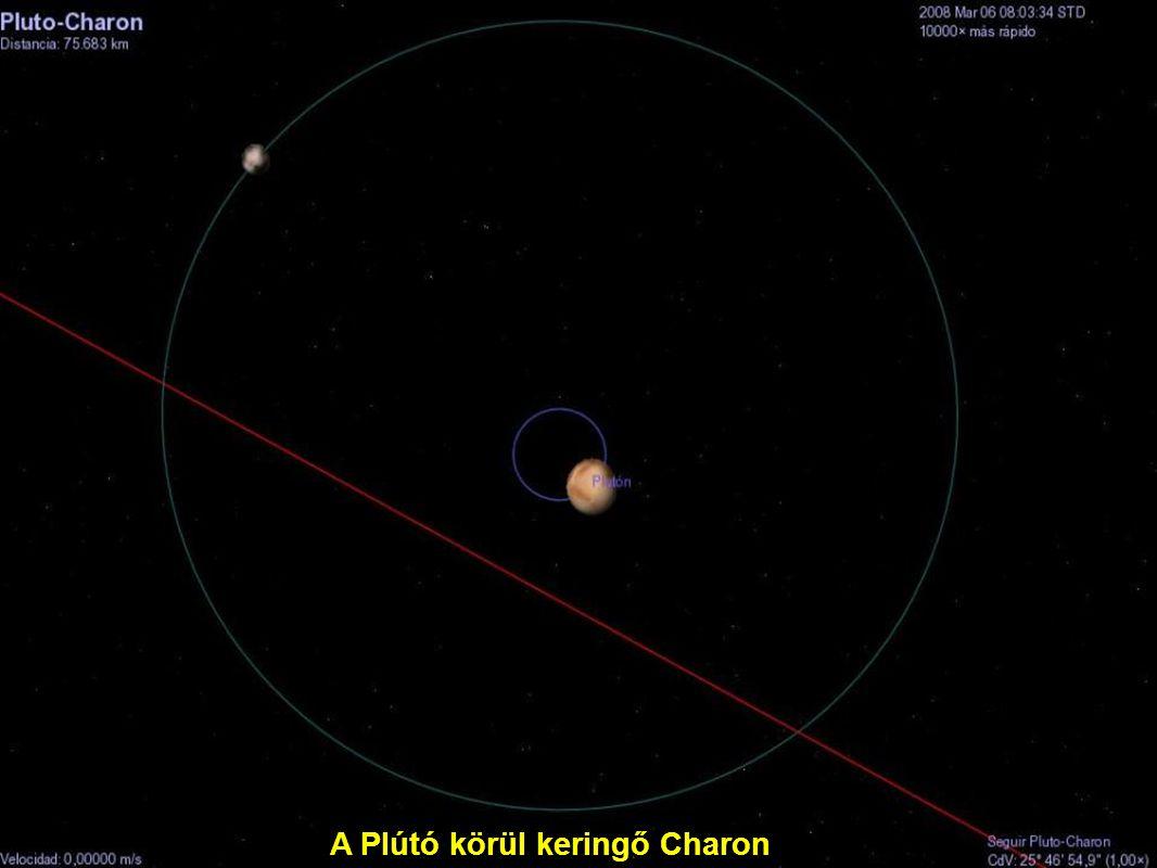 A Plútó körül keringő Charon