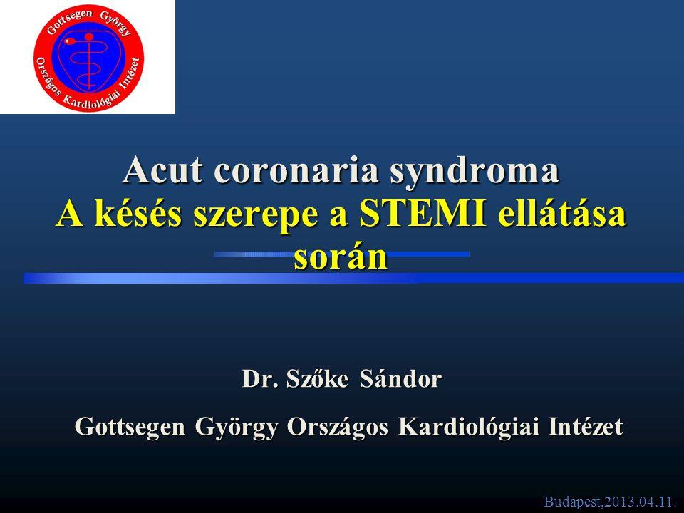Acut coronaria syndroma A késés szerepe a STEMI ellátása során