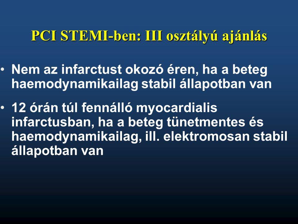 PCI STEMI-ben: III osztályú ajánlás