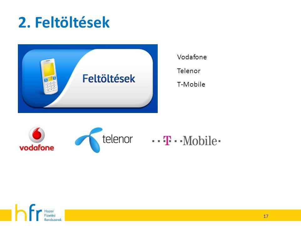 2. Feltöltések Vodafone Telenor T-Mobile