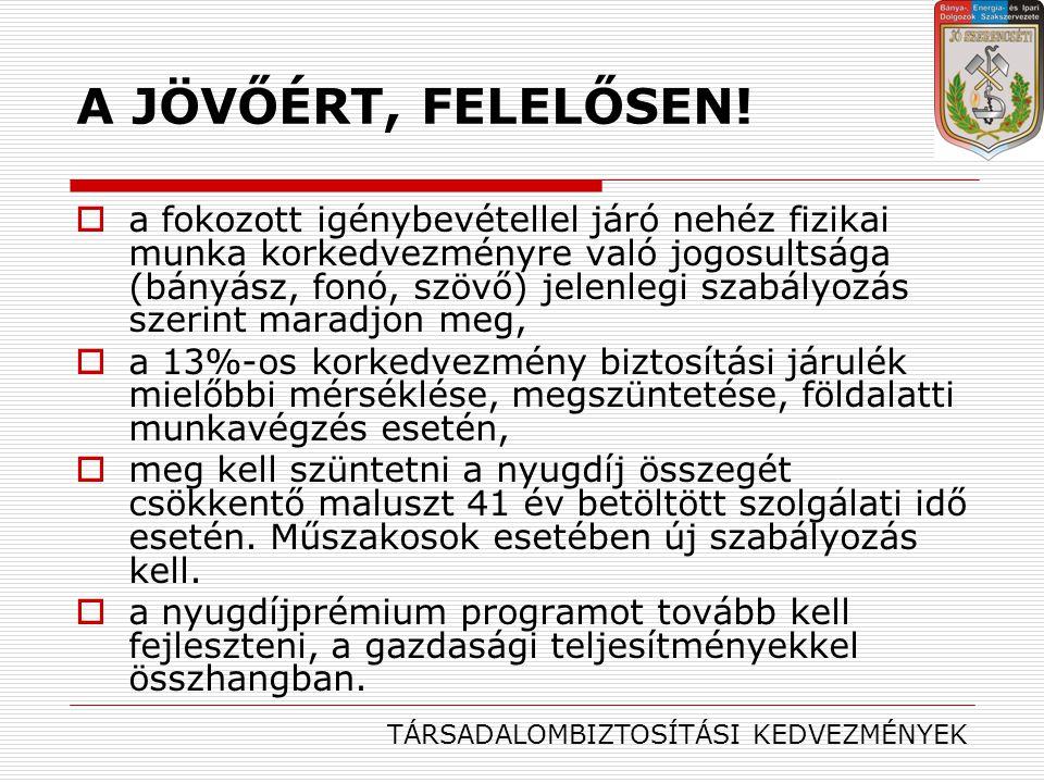 A JÖVŐÉRT, FELELŐSEN!