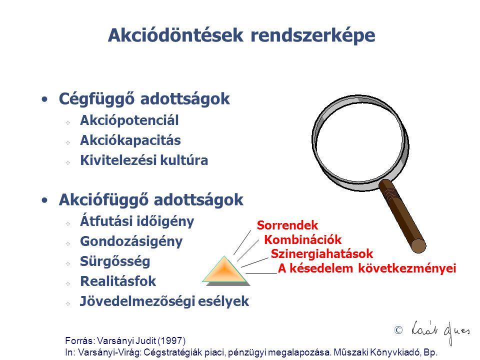 Akciódöntések rendszerképe